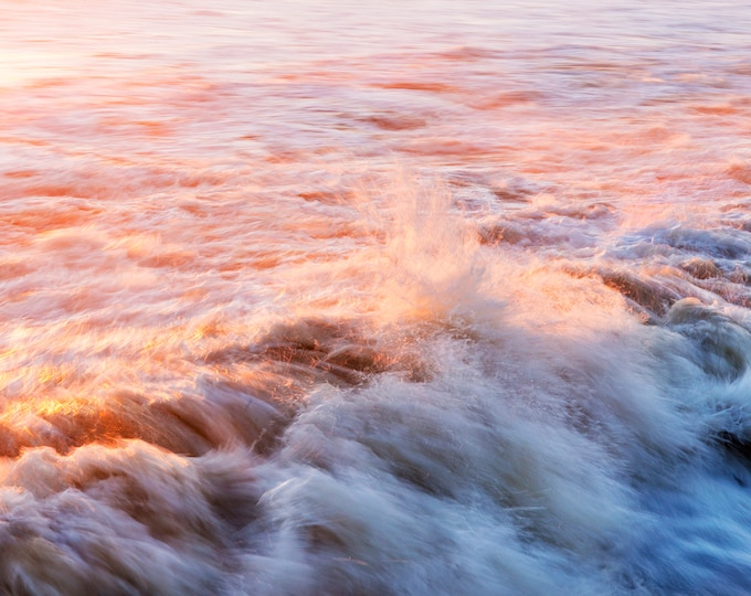 FIREWATER 2, Seascape print, Wave Photography, Ocean Print, Coastal Art, Breaking waves, Limited Edition Print