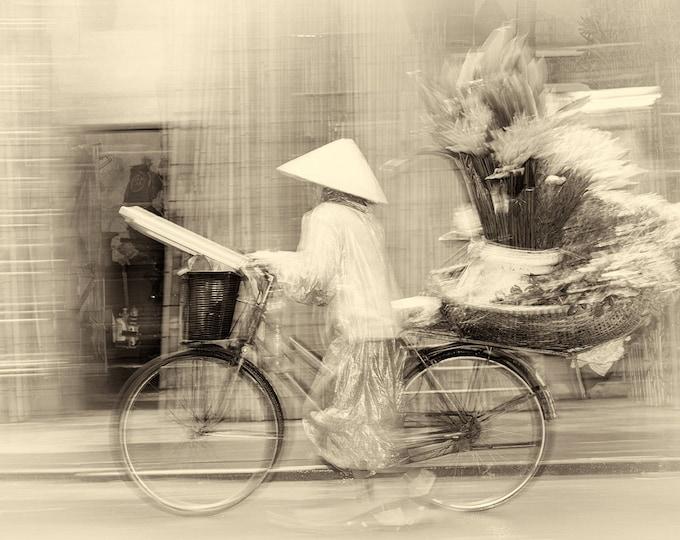 Vietnam Prints, Bike Prints, Street Photography Prints, Limited Edition Print, Photographic Print, Sepia Tone Print