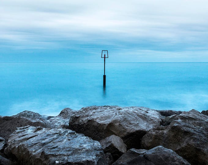 BLUE SEASCAPE PRINT