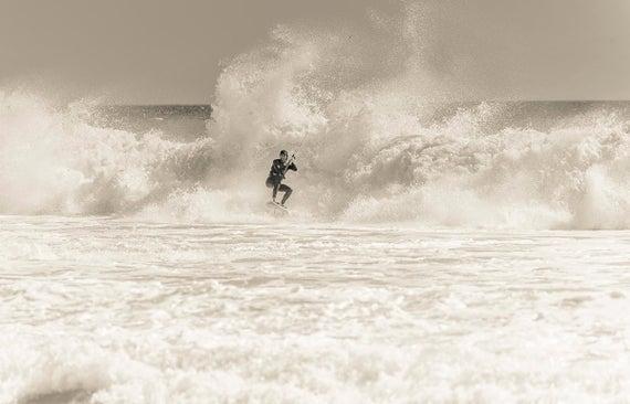 WHITEWATER RUSH. Kitesurfing Print, watersports Picture, Tarifa Print, Surfing Print,Photographic Print