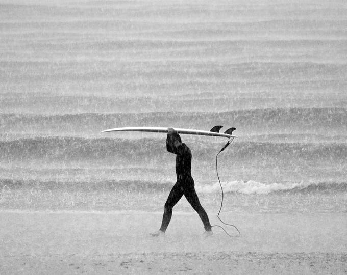 BLACK AND WHITE Surfing Print