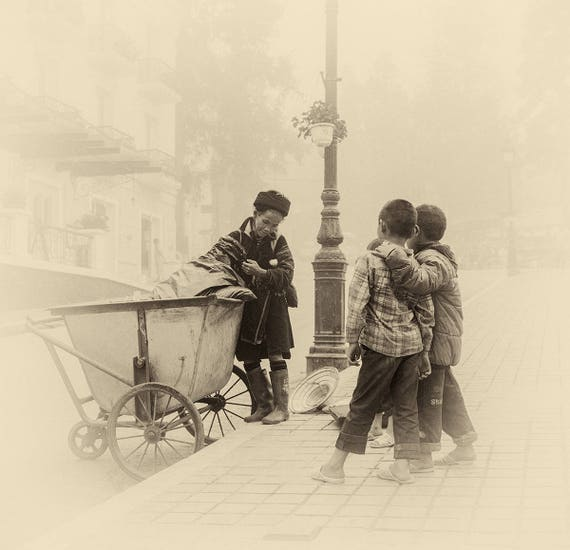 Vietnam Street Photo Print, Street Photography, Travel Prints, Limited Edition Print, Large Photo Prints, Sepia Tone Print