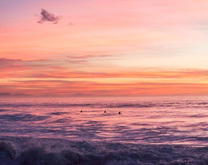Seascape Sunset Print, Sunset Over Sea