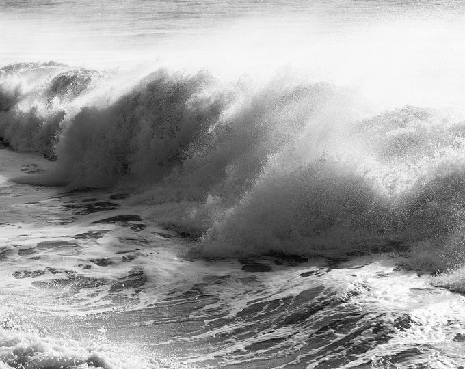 BLACK AND WHITE Wave print -  Ocean Prints