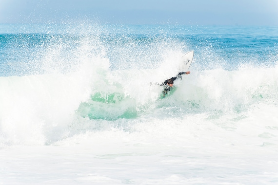 Surfing Print, 'Whitewater Ride', Wave Prints, Coastal Print, Sports Print, Action Photography