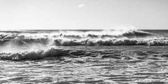 KIMMERIDGE SURF. Surfing Print, Black and White Print, Monochrome Print, Surfing Picture, Wall Art, Home Decor