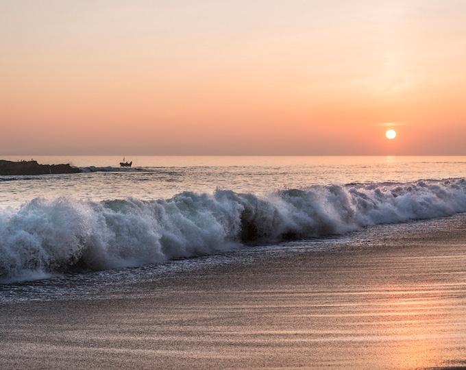 SEASCAPE PRINT,  Beach Print, Breaking Waves Print