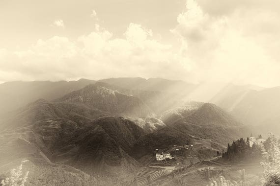 VIETNAM STORIES 9. Vietnam, Landscape Print, Sapa Mountains, Limited Edition Print, Photographic Print, Travel Photography