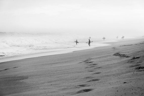 HOSSEGOR SURF, Surfing Print, Beach Print, Black and white Print, Monochrome Print, Coastal Print