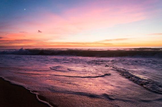 HOSSEGOR SUNSET 2. Sunset Print, Beach Print, Limited Edition Print, Hossegor Print, Seascape Print