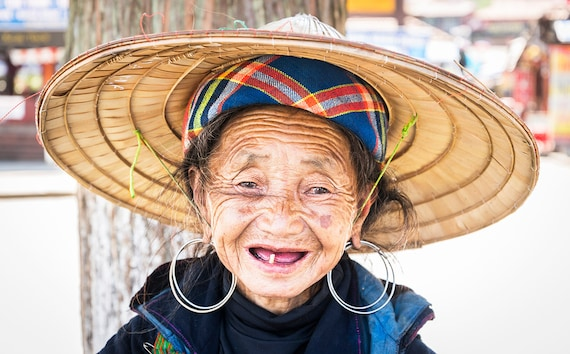 Sapa Tribeswoman, Vietnam picture,travel photography,old lady print,limited edition print,photographic print