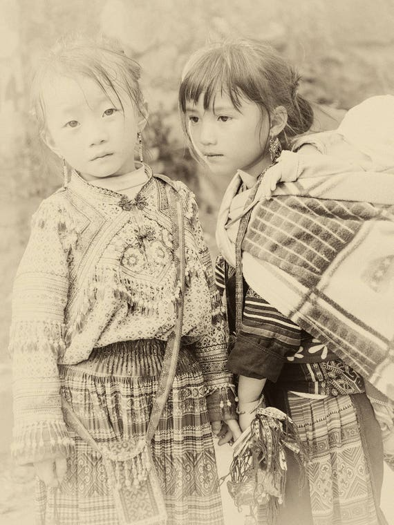 VIETNAM STORIES 5. Vietnam Prints, Sepia Tone, Travel Photography, Sapa Print, Limited Edition, Photographic Print