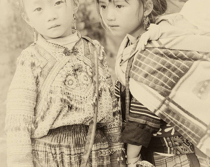 VIETNAM STORIES 5. Vietnam Prints, Sepia Tone, Travel Photography, Sapa Print, Limited Edition, Photographic Print