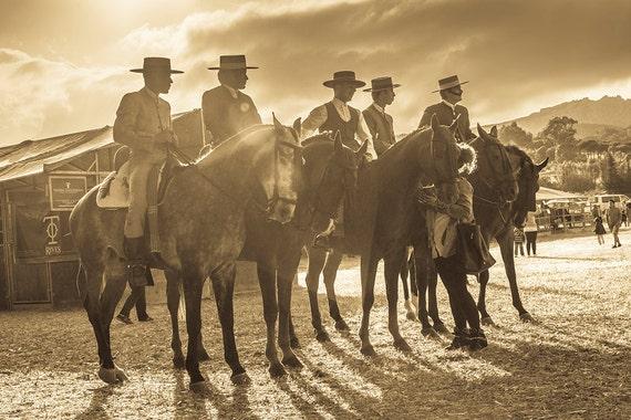 Spanish Cowboys,Spain,Horses,equine art,sepia prints,Limited Edition Print