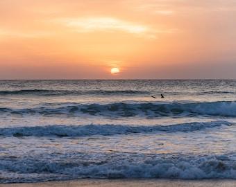 SUNSET SURFING PRINT