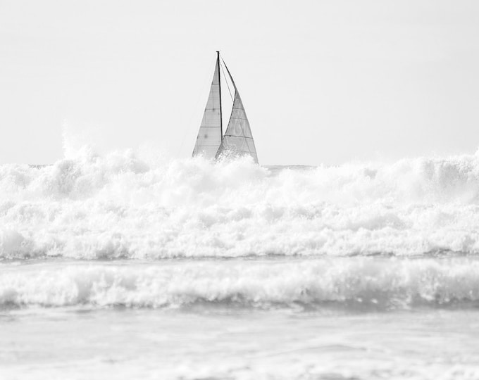 Black And White Sailing Print