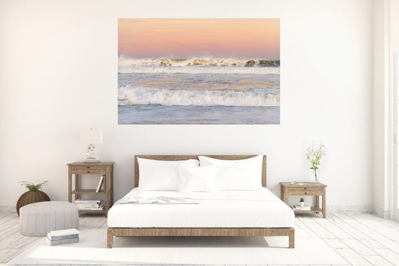 Hossegor Sunrise, Seascape Art Print, Coastal Print, Waves Print, Large Wall Art Print, Limited Edition Print, Ocean Print