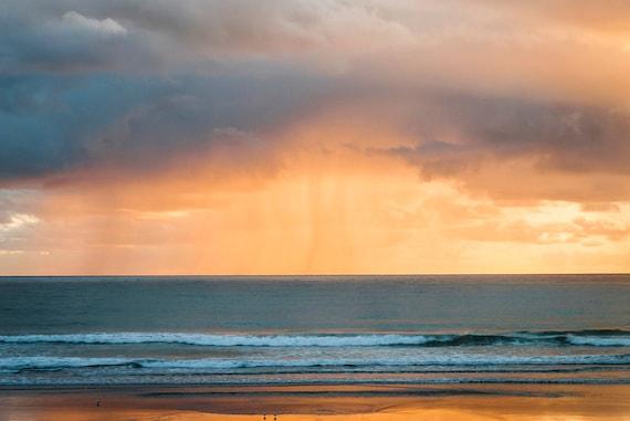 Rain Storm at Sunrise,seascape print,sea,ocean print,travel photography,limited edition print
