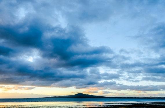 RANGITOTO ISLAND. New Zealand Print, Seascape Print, Landscape Print, Travel photography, Limited Edition Print, Photographic Print.