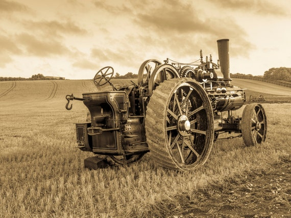 AGE OF STEAM. Sepia Toned Print, Dorset Picture, Blandford Art, Steam Engine Print, Photographic Print.