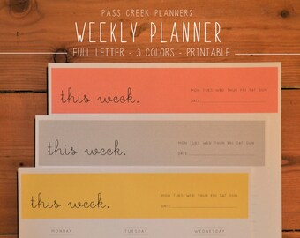 Weekly Planner, Printable Planner, Daily Planner, Minimalist Planner, Organization, Productivity, Time Planner