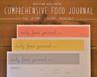 food journal etsy