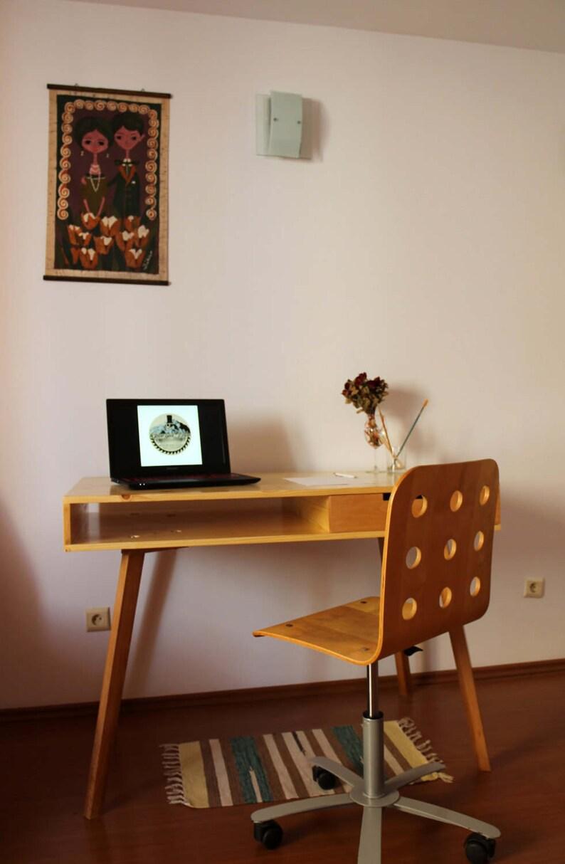 Bureau Scandinavisch Design.Buro Houten Bureau Laptop Bureau Desk Home Office Etsy