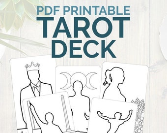 photograph about Printable Tarot Flashcards titled Acquire Tarot Flashcards with this electronic printable Greatest Etsy