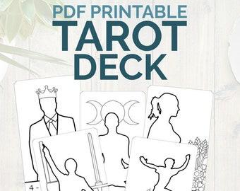 image regarding Printable Tarot Deck named Biggest Arcana Tarot Deck Electronic printable tarot card deck Etsy