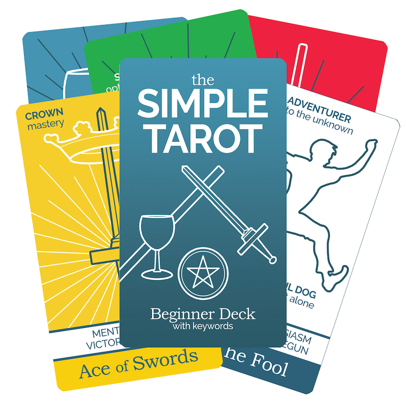 photo relating to Printable Tarot Flashcards referred to as The Very simple Tarot Card Deck - tarot flashcards for understanding tarot, ideal for tarot newbies with tarot card meanings and key phrases