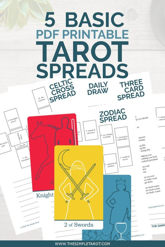 photo about Printable Tarot Cards With Meanings Pdf identify Uncomplicated Tarot Spreads Offer - 5 electronic tarot magazine internet pages in opposition to The Very simple Tarot