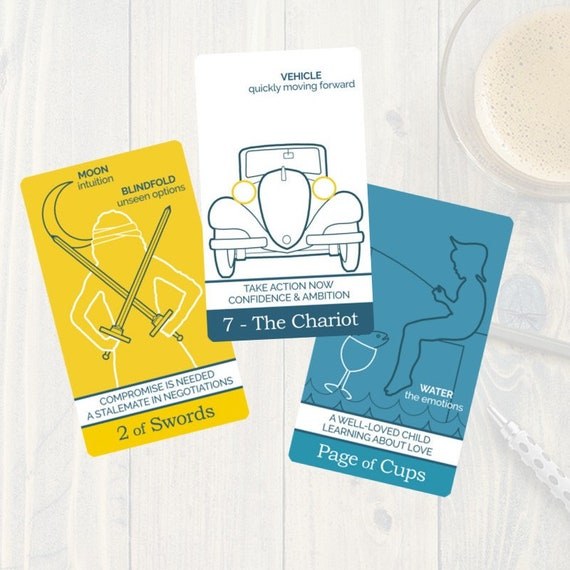 The Simple Tarot Card Deck - tarot flashcards for learning tarot, perfect  for tarot beginners with tarot card meanings and keywords