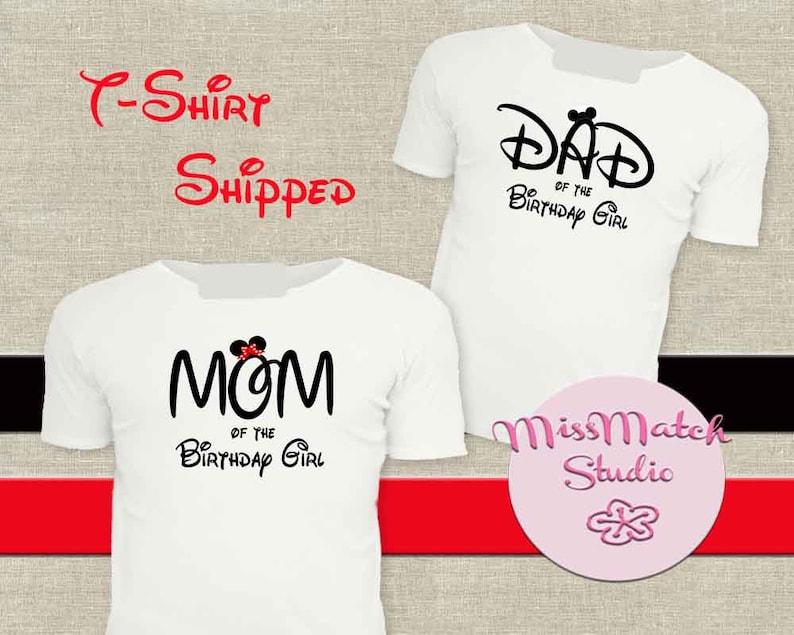 da9f9b3d Disney Birthday Mom Dad T-Shirt Shipped Minnie Mickey Mouse | Etsy