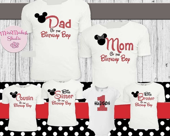 Mom OR Birthday Girl MINNIE MOUSE BIRTHDAY TSHIRT  Bodysuit avail PICK ONE Dad