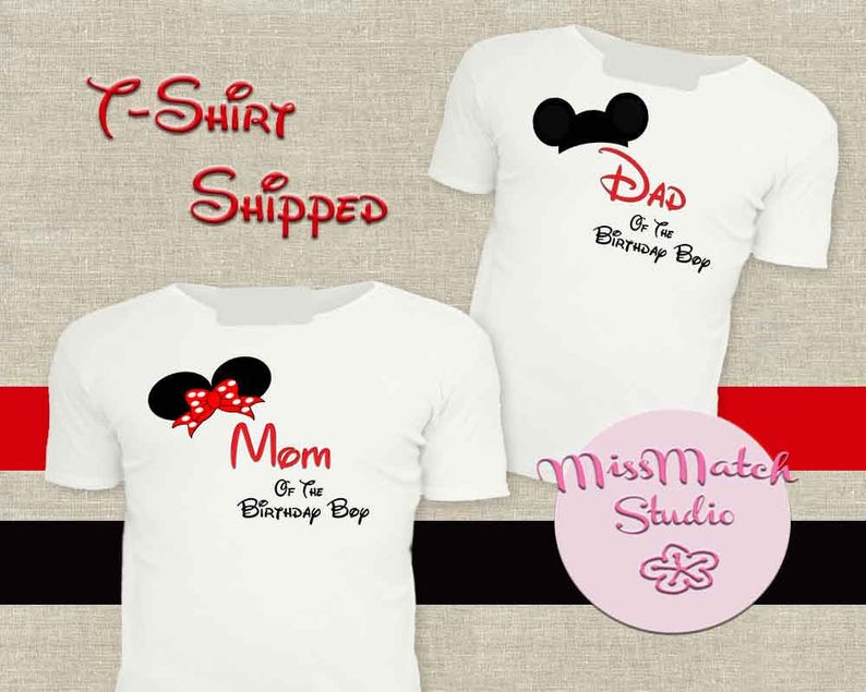 4688ae561 SALE Mom Dad Family Disney T-Shirt Shipped Minnie Mickey | Etsy