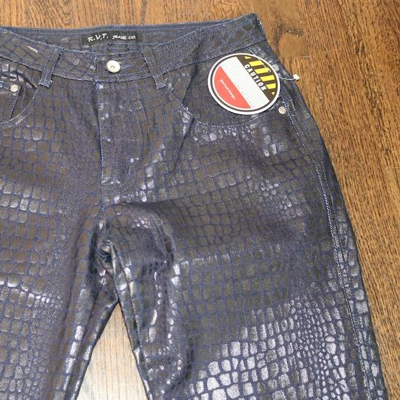 Y2K Croc Skin Jeans | Vintage Croc Print Pants | S