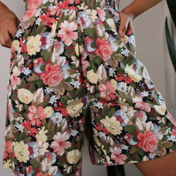 80s Floral Romper   Halter Top Romper   Rose Prin… - image 8