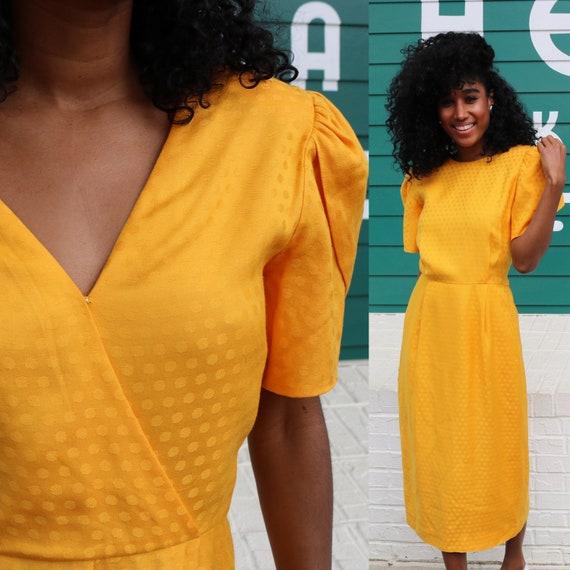 Bohemian Dress Yellow Polka Dot Dress Size 4