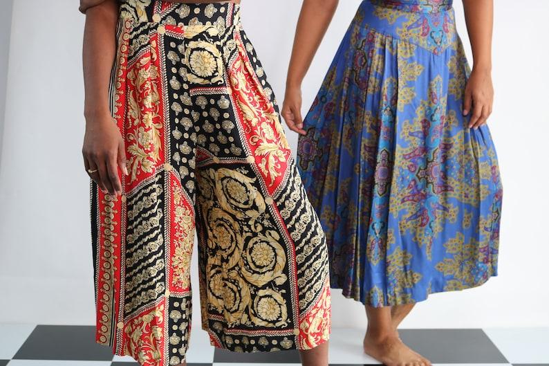 Vintage Circle Skirt Pleated Midi Skirt Medium Brocade Skirt Tapestry Skirt Vintage High Waist Skirt Vintage Midi Skirt