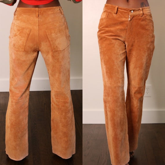 90s Leather Pants | Express Suede Leather Pants |