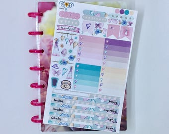 Fairy Mini happy planner weekly sticker kit, Mini Happy Planner, butterfly stickers, planner accessories, planner stickers