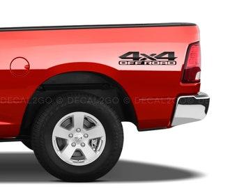 2x DODGE RAM 4x4 OFF ROAD 1500 2500 Dakota Truck Decal Set Vinyl Stickers