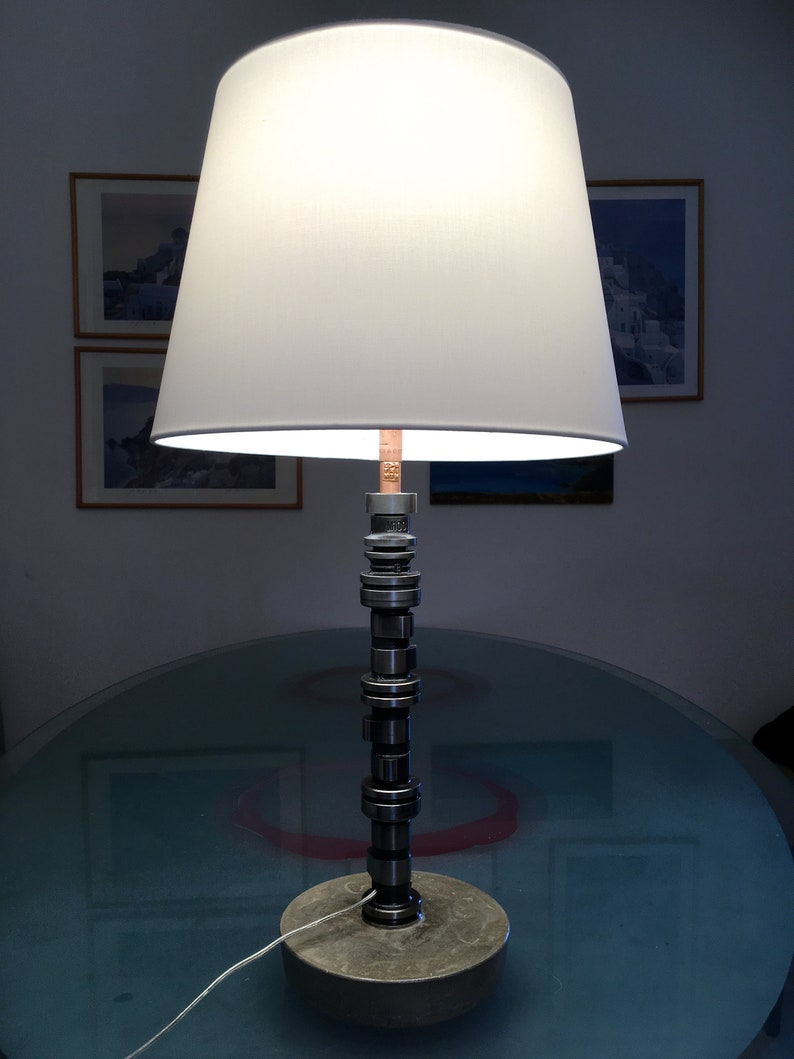 Table Lamp Desk Lamp Bedside Lamp Concrete Car Motor Etsy
