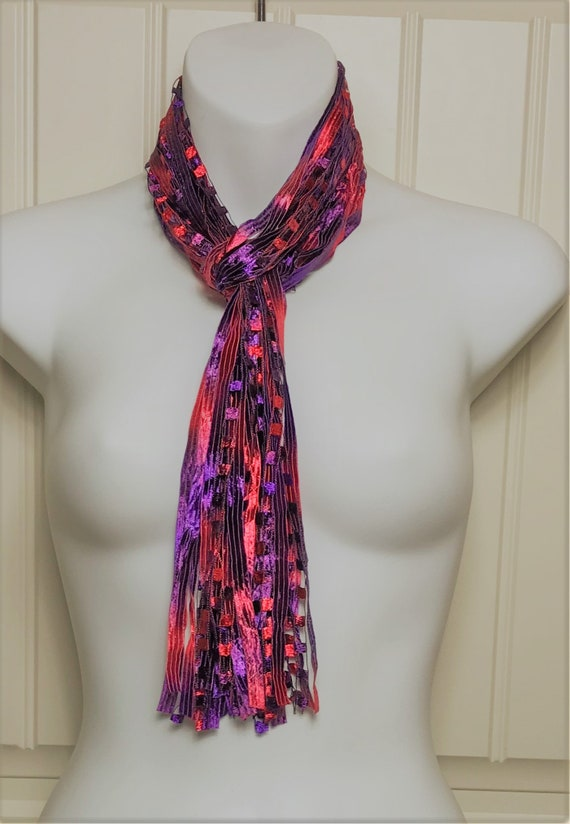 f76645ae79b Ribbon Scarf Purple and Red Perfect colors for the Red Hat