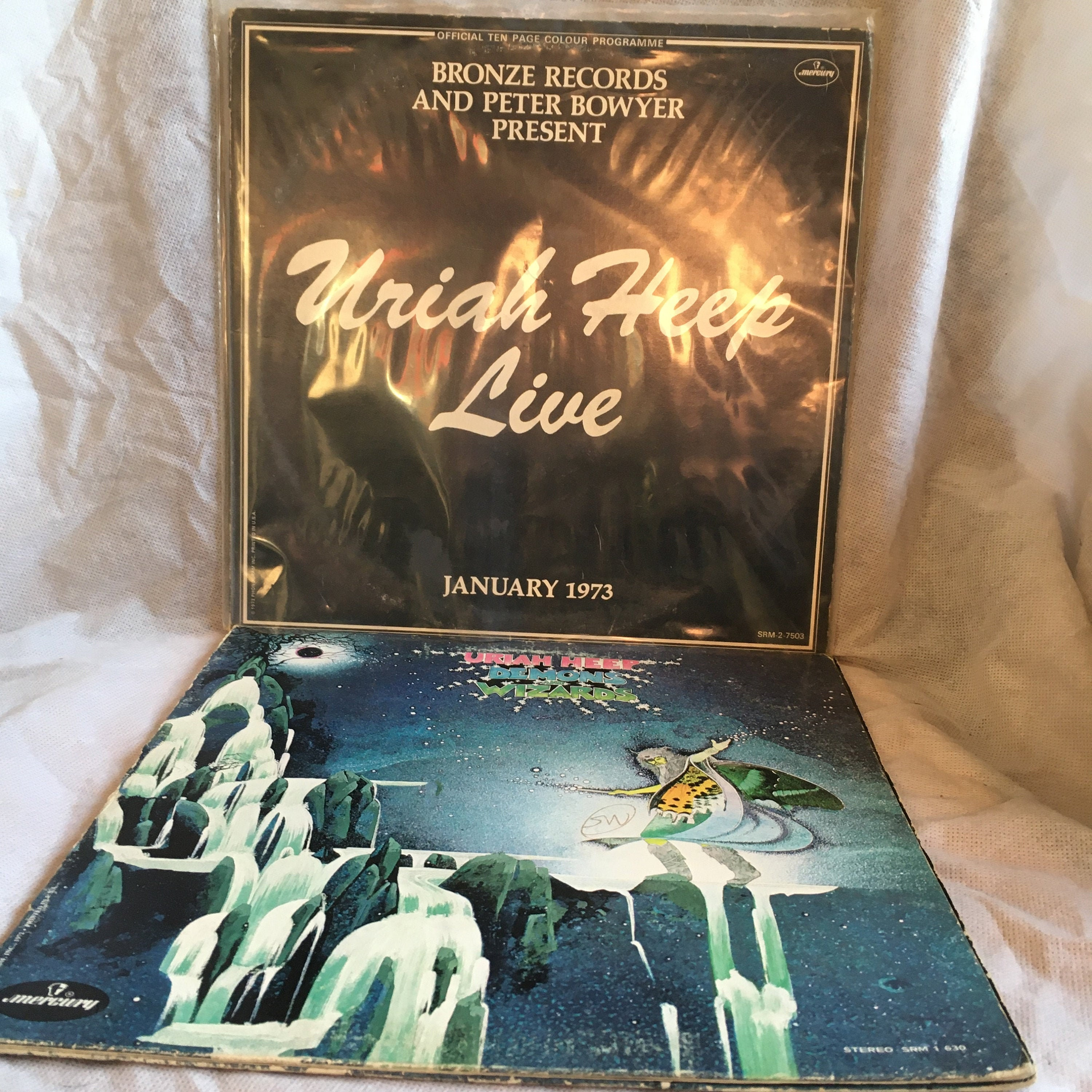 Uriah Heep Live January 1973 And Demon Wizards Lps Etsy