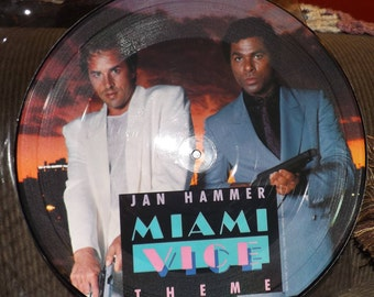 """Miami Vice Picture Disc 12"""" Music """"Miami Vice:Special Limited Edition (2-songs)"""