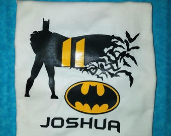Customized Batman Birthday Inspired T shirt