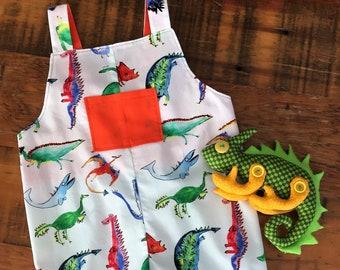 60e35e600389 Dinosaur Overalls   Unisex Romper   Dinosaur Print Overalls   Dino Overalls    Harem Romper   First Birthday   Boy Overalls   Girl Overalls