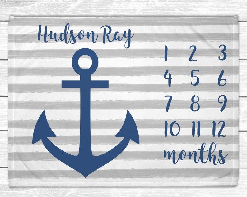 Monthly Baby Milestone  Nautical Monthly Baby MIlestone image 0