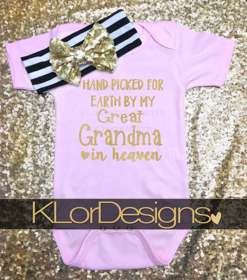 Heaven Sent Great Grandma Baby Girl Clothes Hand Picked For Etsy